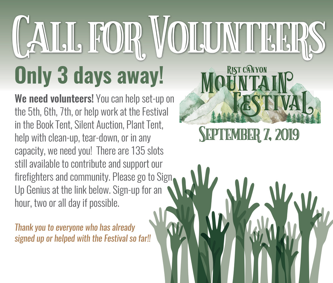 Call for Volunteers poster