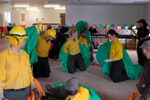 Fire shelter practice